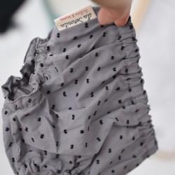 Culotte gris puntitos negros