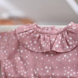 Camisa volante rosa estrellas
