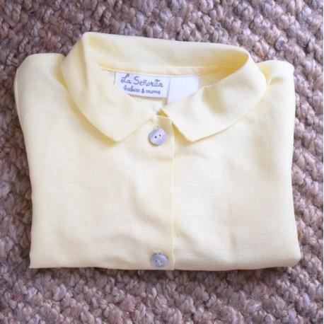 Camisa cuello amarilla