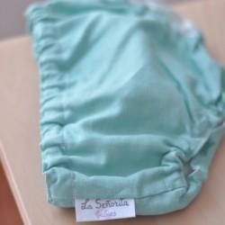 Culotte lino turquesa