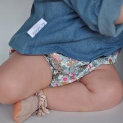 Culotte flores rosas y azules