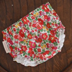 Culotte Flores rojas fucsias