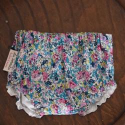 Culotte flores turquesa-rosa-lima