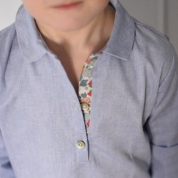 Camisa polera azul