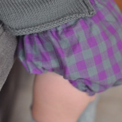 Culotte vichy malva-gris