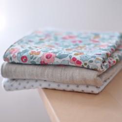 Pack mini toallas flores rosas & azules