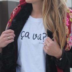 Camiseta chica Ça va? blanca