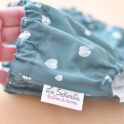 Culotte hojas azul