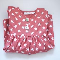 Vestido vaquero estrellas rojo