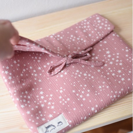 Bolsa multiusos rosa estrellas