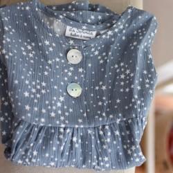 Vestido azul estrellas -sin mangas-
