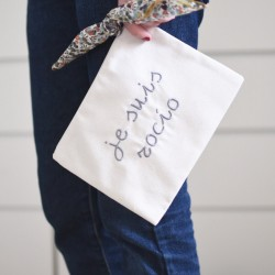 Bolsa mini beige + pañuelo