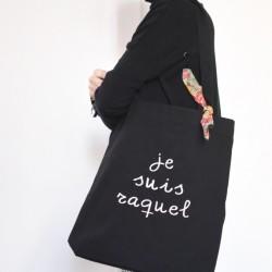 Bolsa mediana negra + pañuelo