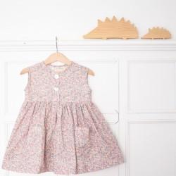 Vestido flores mini nº1 -sin mangas-