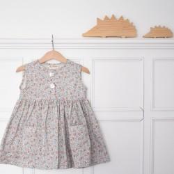 Vestido flores mini nº2 -sin mangas-