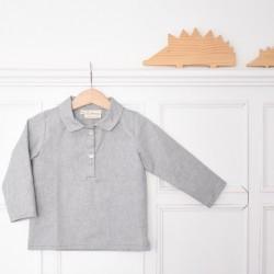 Camisa polera gris