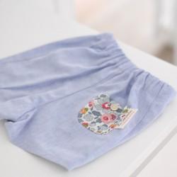 Pantalón oxford azul
