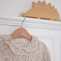Camisa cuello volante flores mini nº3