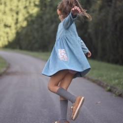 Vestido pana menta