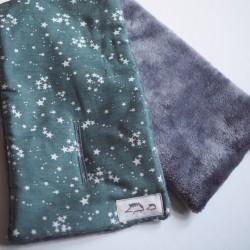 Bufanda estrellas verde