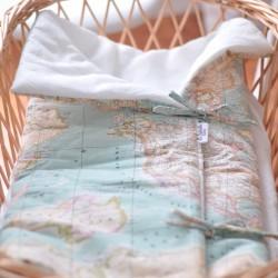Saco mapamundi interior lino & algodón