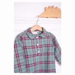 Camisa polera escocesa