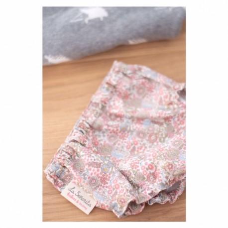 Culotte flores rosas
