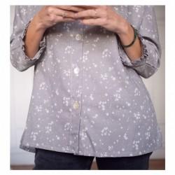 Blusa Mom&Me gris estrellas