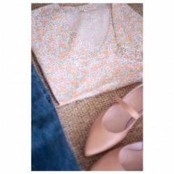 Blusa Mom&Me Bambula flores-preventa