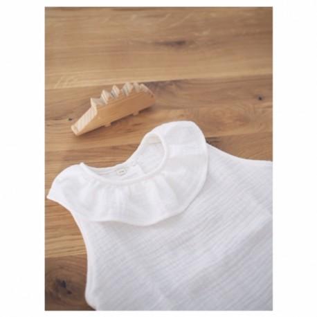 Camisa volante blanca