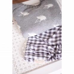 Culotte vichy gris fango
