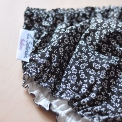 Culotte negro flores