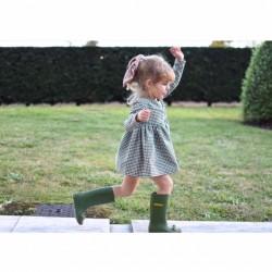 Vestido vichy mini verde