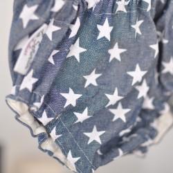 Culotte vaquero estrellas blancas