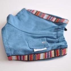 Pantalón vaquero detalle étnico