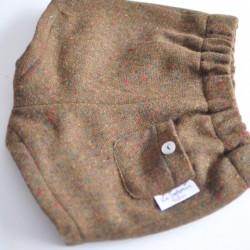 Pantalón lana caqui
