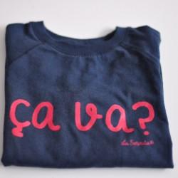 Camiseta Ça va? azul