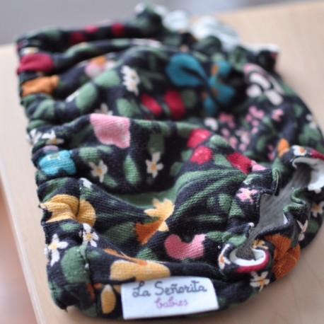 Culotte negro flores de colores