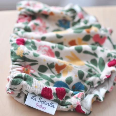 Culotte beige flores de colores