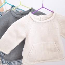 Jersey algodón bolsillo beige