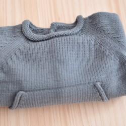 Jersey algodón bolsillo gris