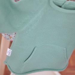 Jersey algodón bolsillo menta